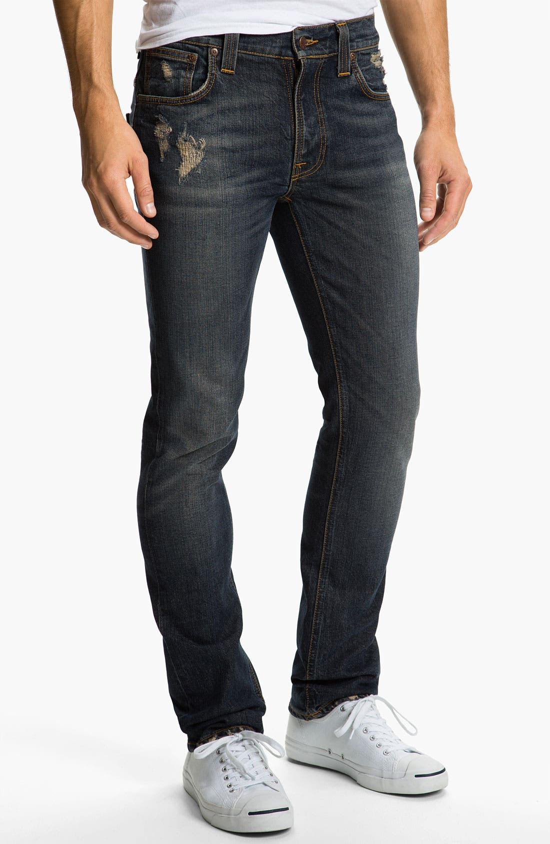 Alternate Image 2  - Nudie 'Thin Fin' Skinny Leg Jeans (Organic Well Used)