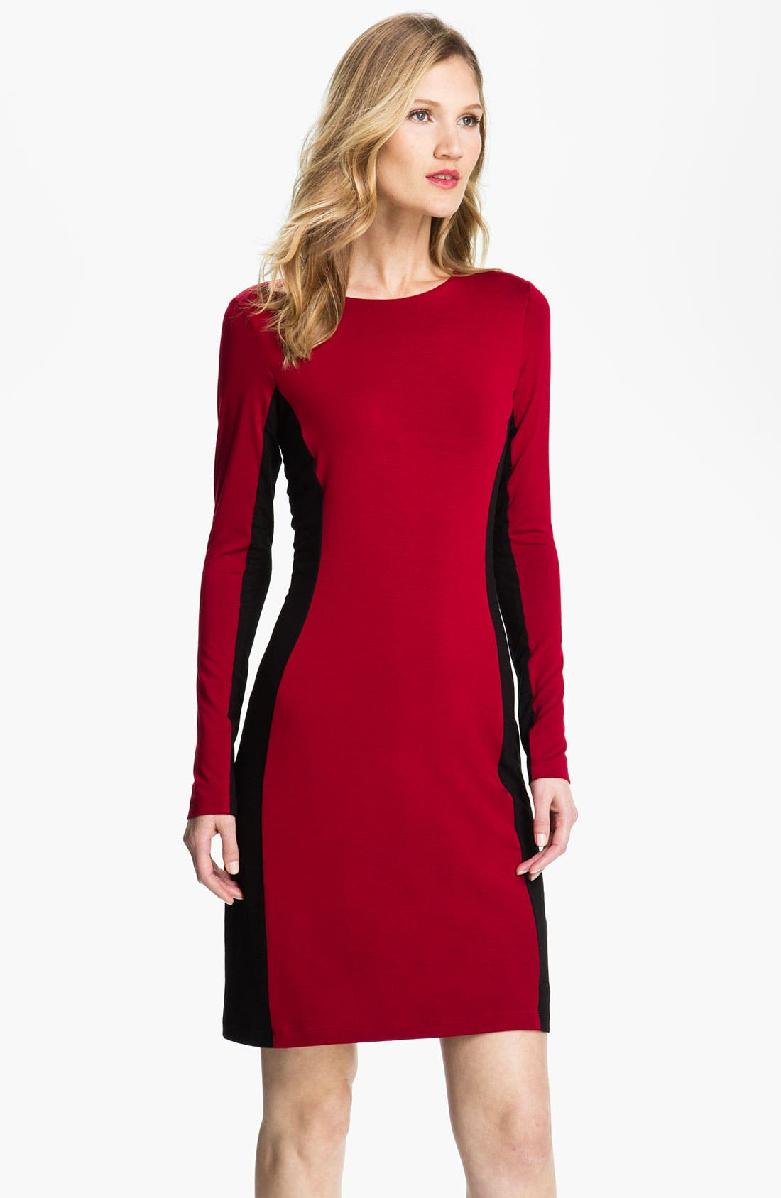 Alternate Image 1 Selected - Karen Kane Contrast Panel Dress