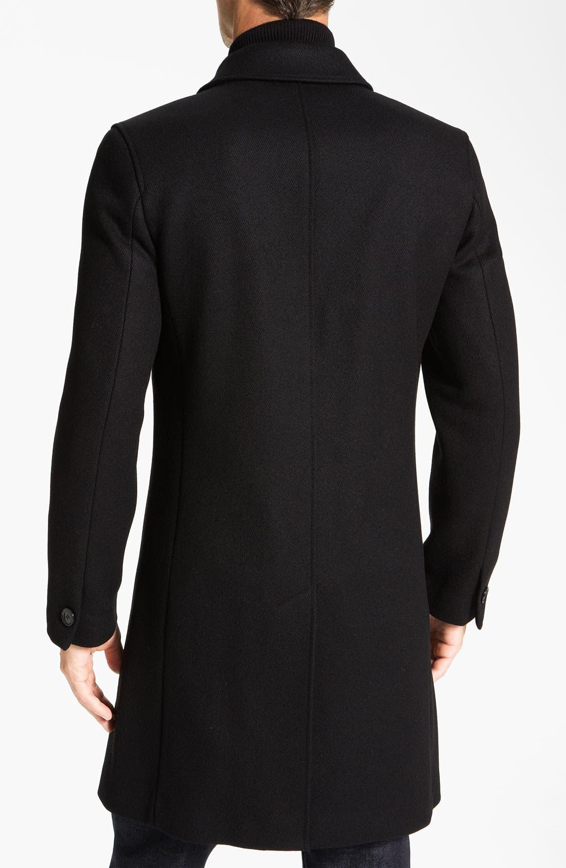 Alternate Image 2  - Cole Haan Wool Blend Overcoat