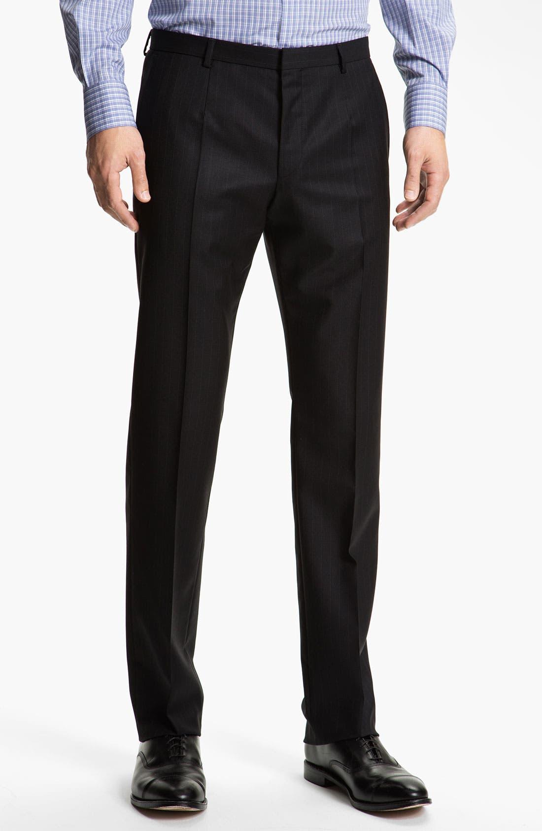 Alternate Image 4  - HUGO 'Amaro/Heise' Trim Fit Stripe Suit