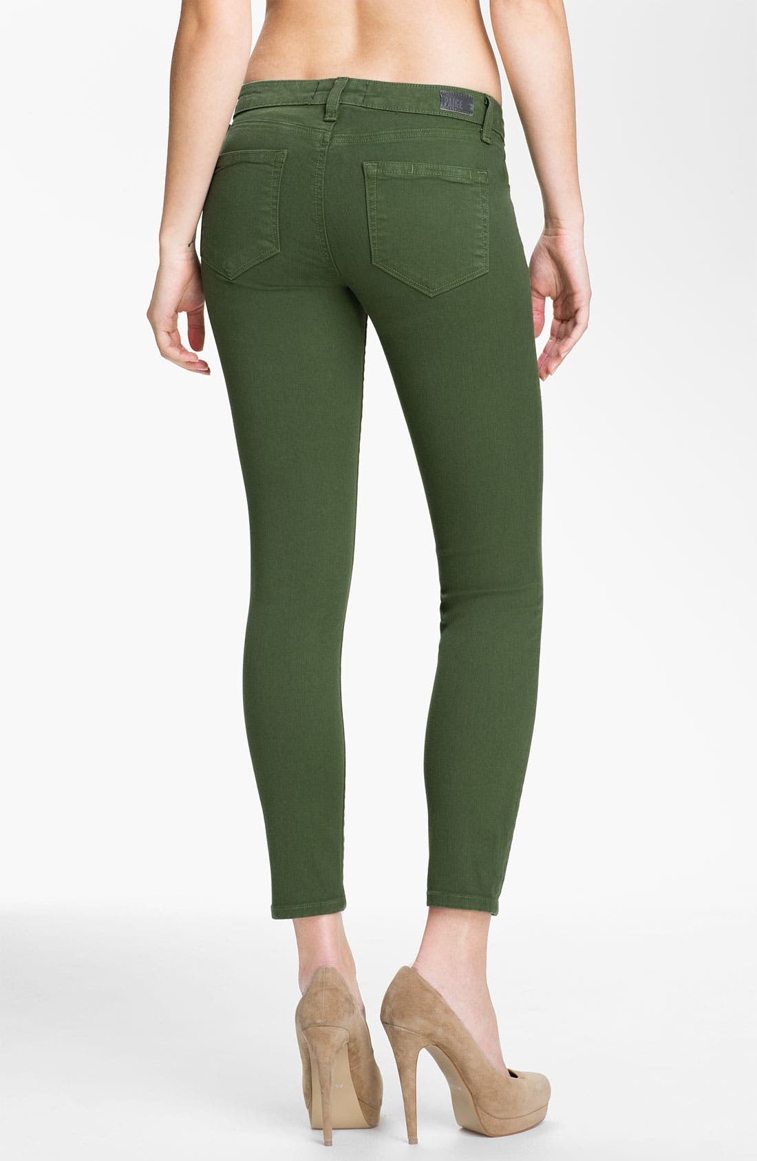Alternate Image 2  - Paige Denim 'Skyline' Ankle Peg Skinny Stretch Jeans (Forest)