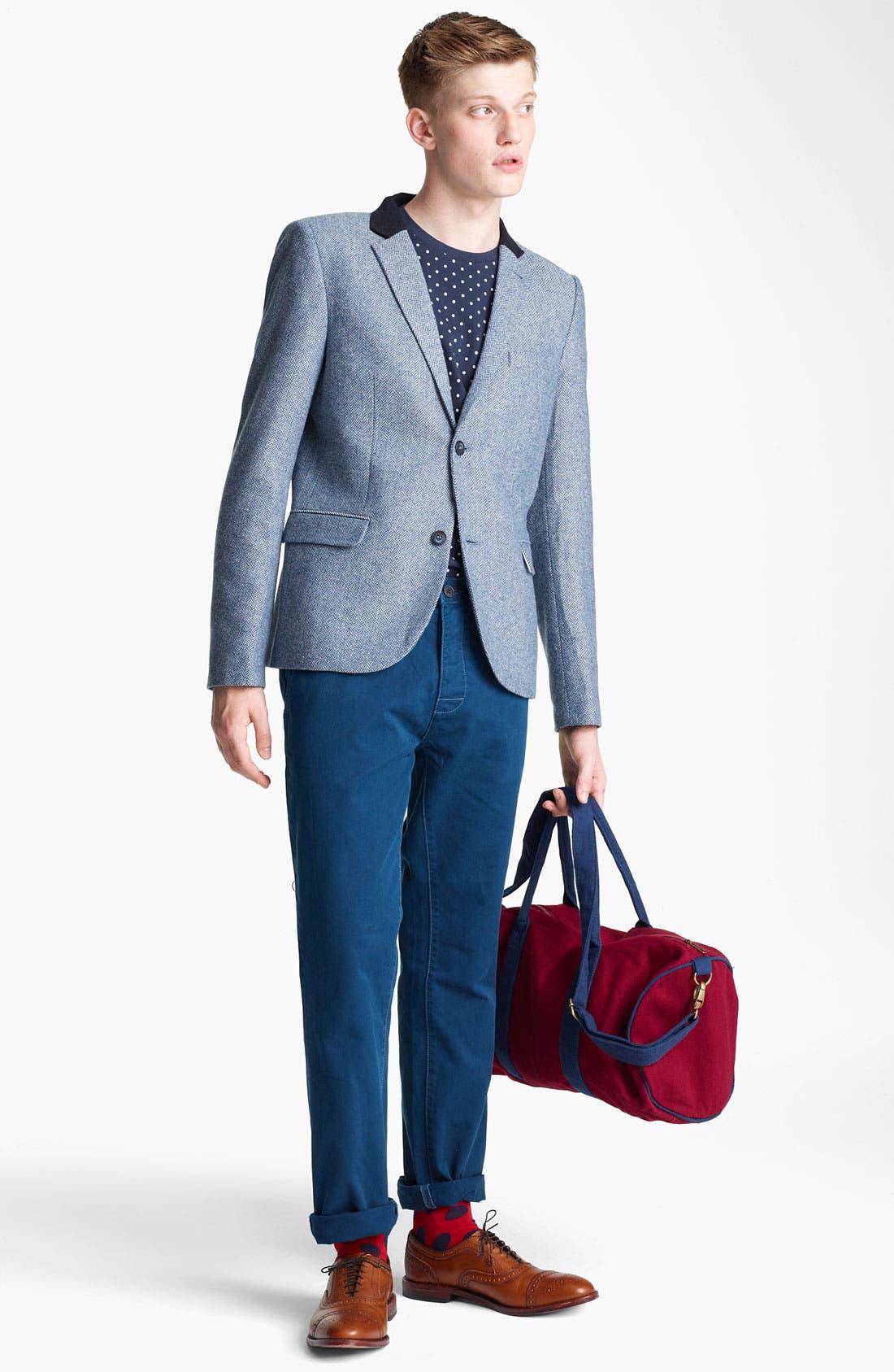 Alternate Image 1 Selected - Topman Blazer, T-Shirt & Slim Fit Chinos