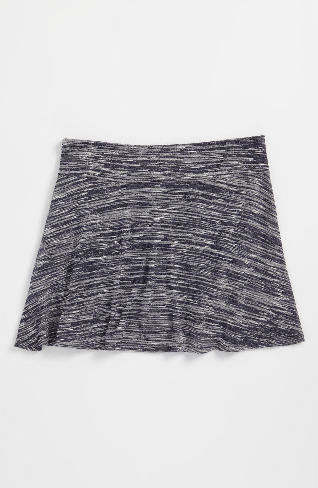 Alternate Image 1 Selected - Zunie Space Dye Skirt (Big Girls)