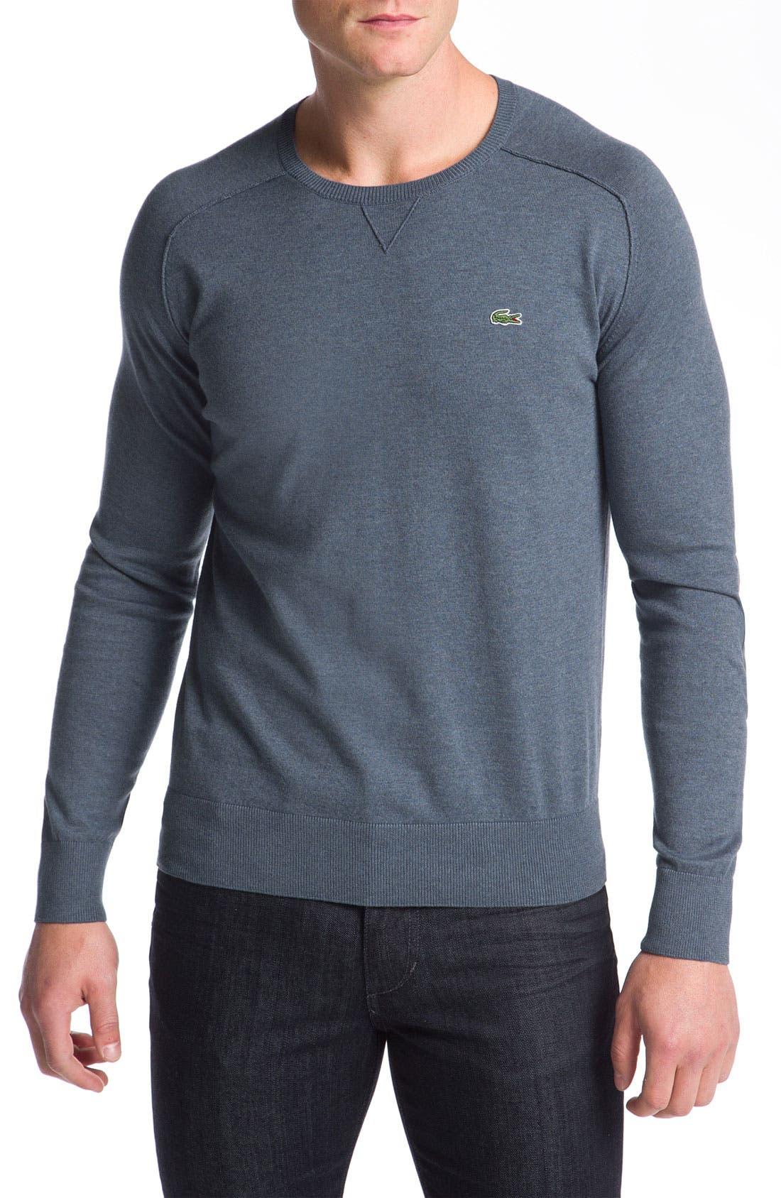 Main Image - Lacoste Cotton & Cashmere Crewneck Sweater
