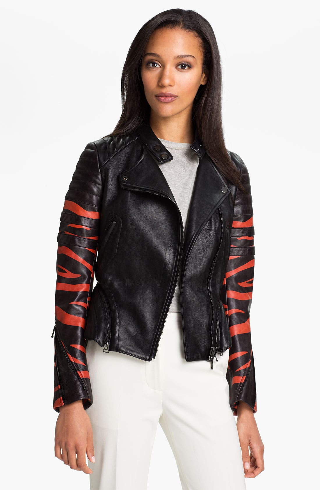 Alternate Image 1 Selected - 3.1 Phillip Lim Peplum Motorcycle Jacket