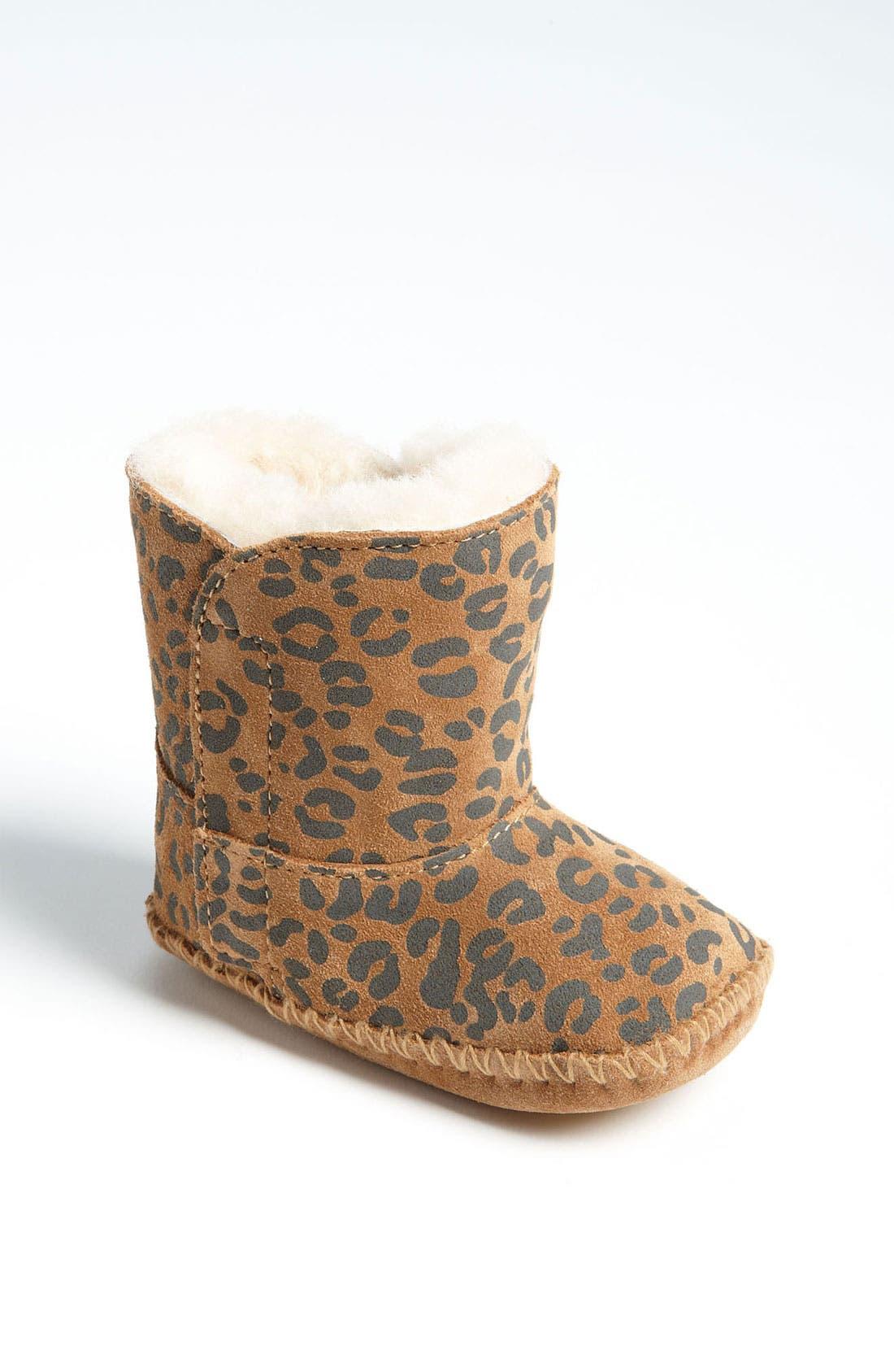 Main Image - UGG® 'Cassie' Leopard Print Boot (Baby & Walker)