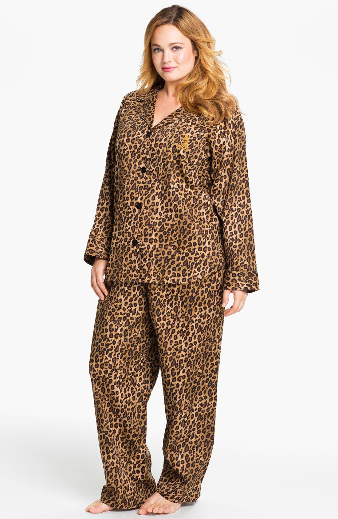 Main Image - Lauren Ralph Lauren Sleepwear Pattern Pajamas