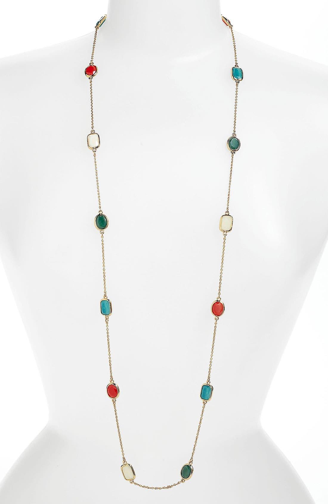 Alternate Image 2  - kate spade new york 'dazzle drop' long station necklace