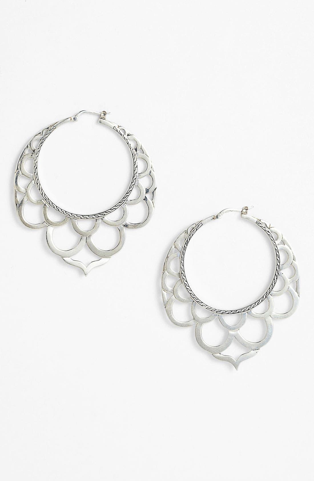 Main Image - John Hardy 'Naga' Large Lace Hoop Earrings