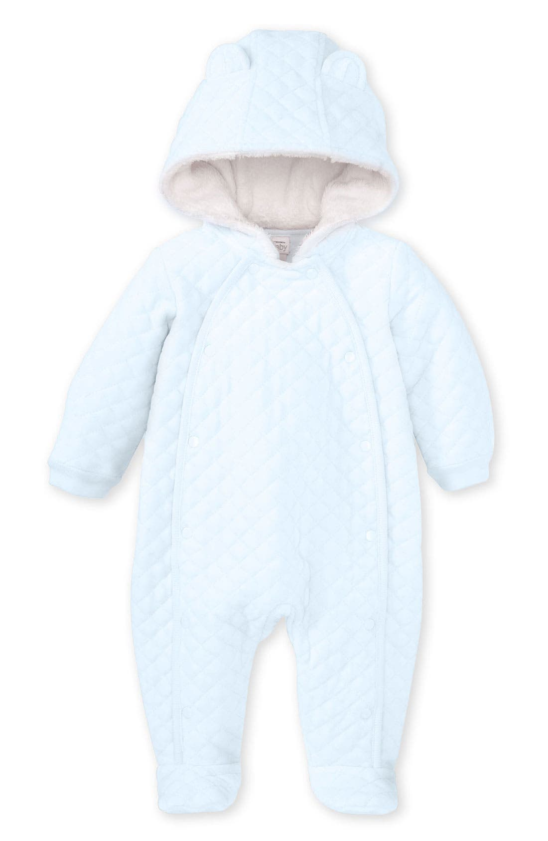 Alternate Image 1 Selected - Nordstrom Baby Quilted Velour Bunting (Infant)