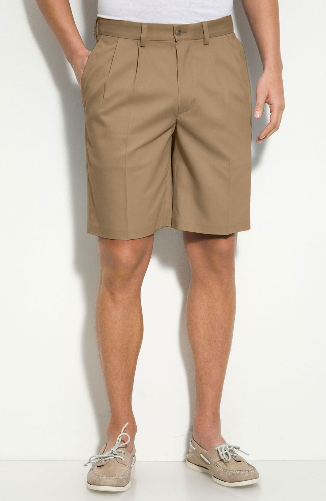 Alternate Image 1 Selected - Nordstrom Smartcare™ Double Pleat Shorts