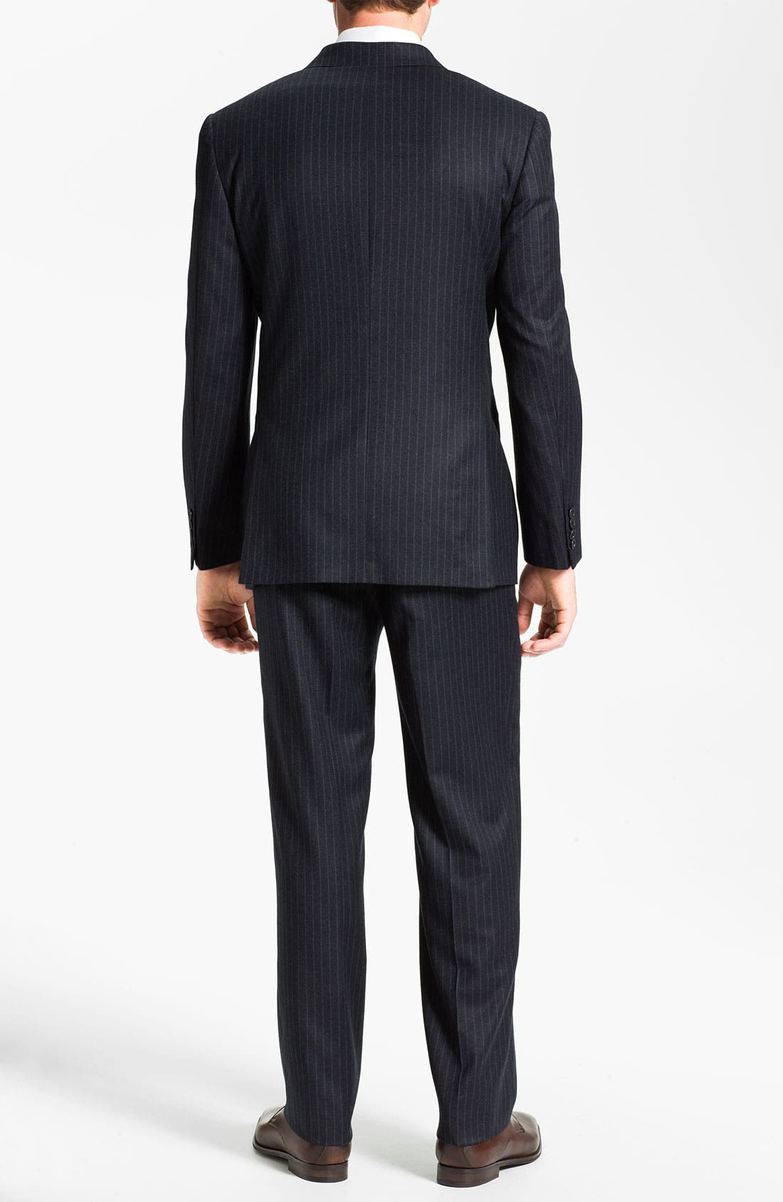 Alternate Image 3  - Joseph Abboud Double Breasted Pinstripe Suit