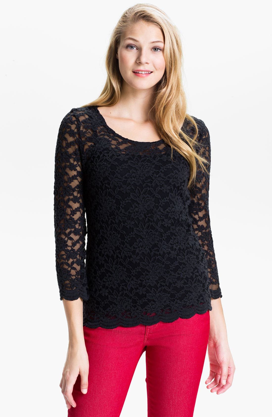 Alternate Image 1 Selected - KUT from the Kloth 'Mariela' Lace Top (Online Exclusive)