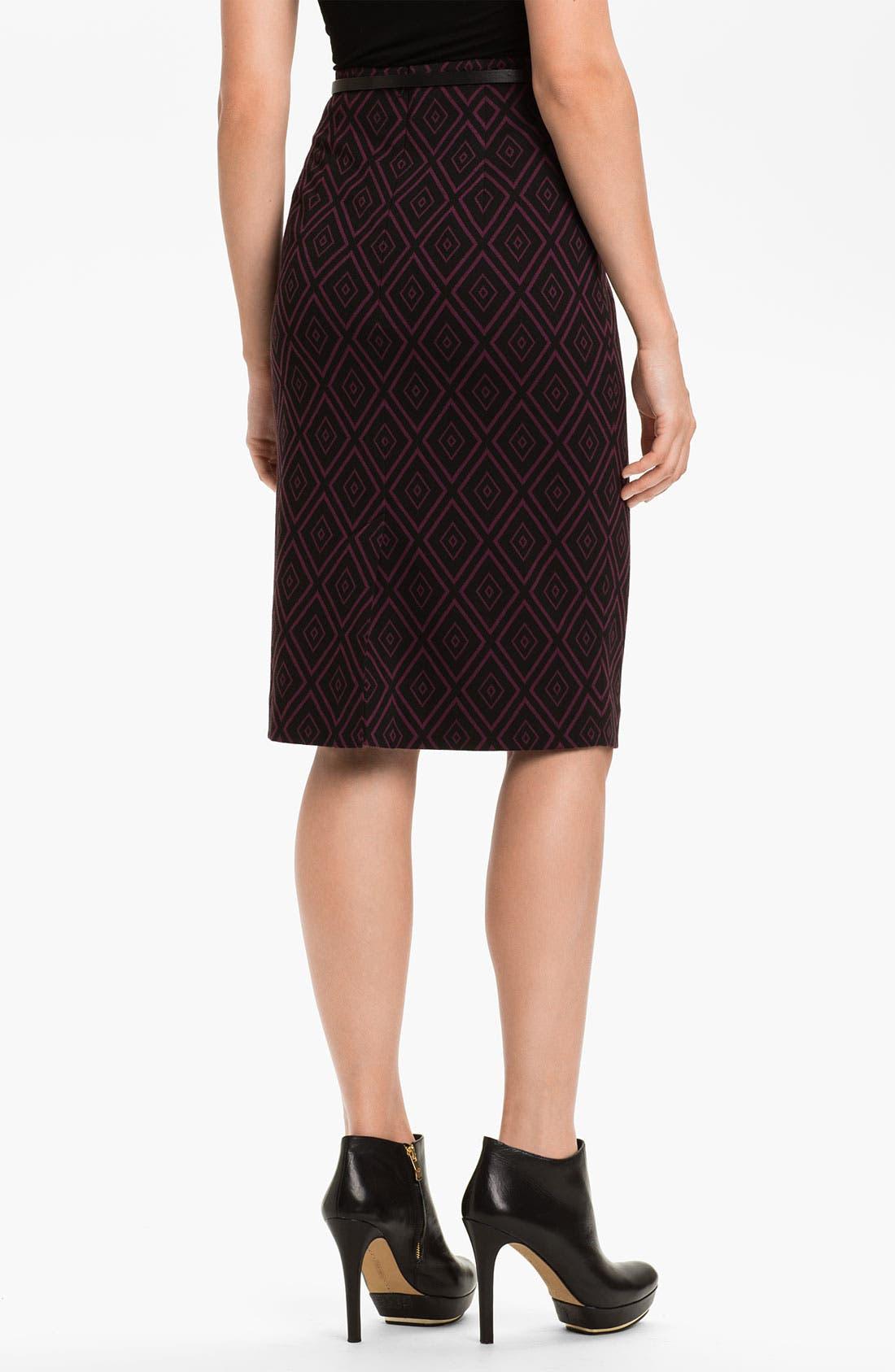 Alternate Image 2  - Halogen® Belted Ponte Skirt