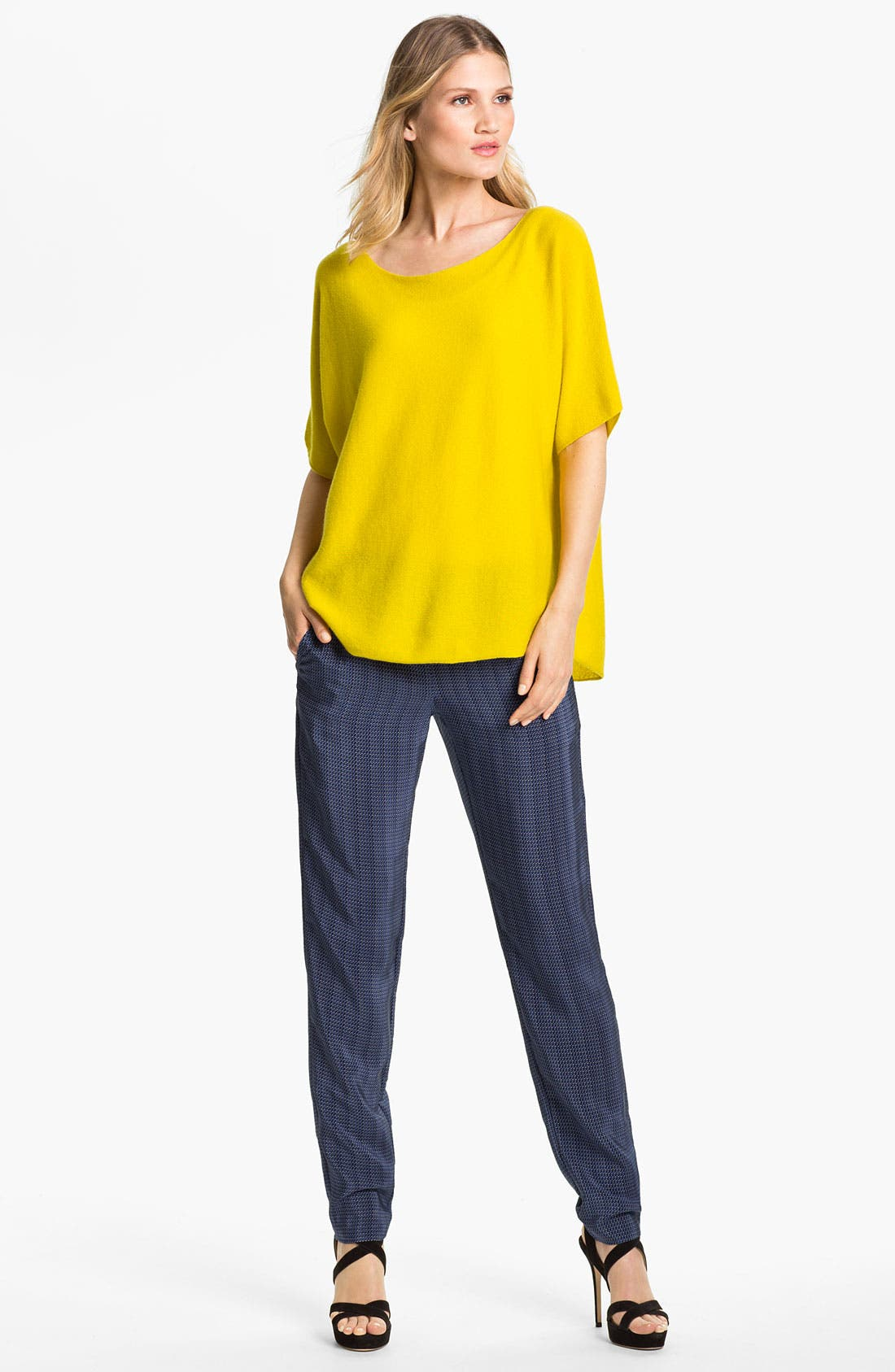 Alternate Image 1 Selected - Vince Cashmere Sweater & Silk Pants