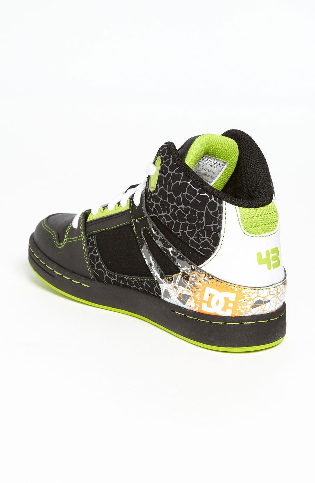 Alternate Image 2  - DC Shoes 'Rebound' Sneaker (Toddler, Little Kid & Big Kid)