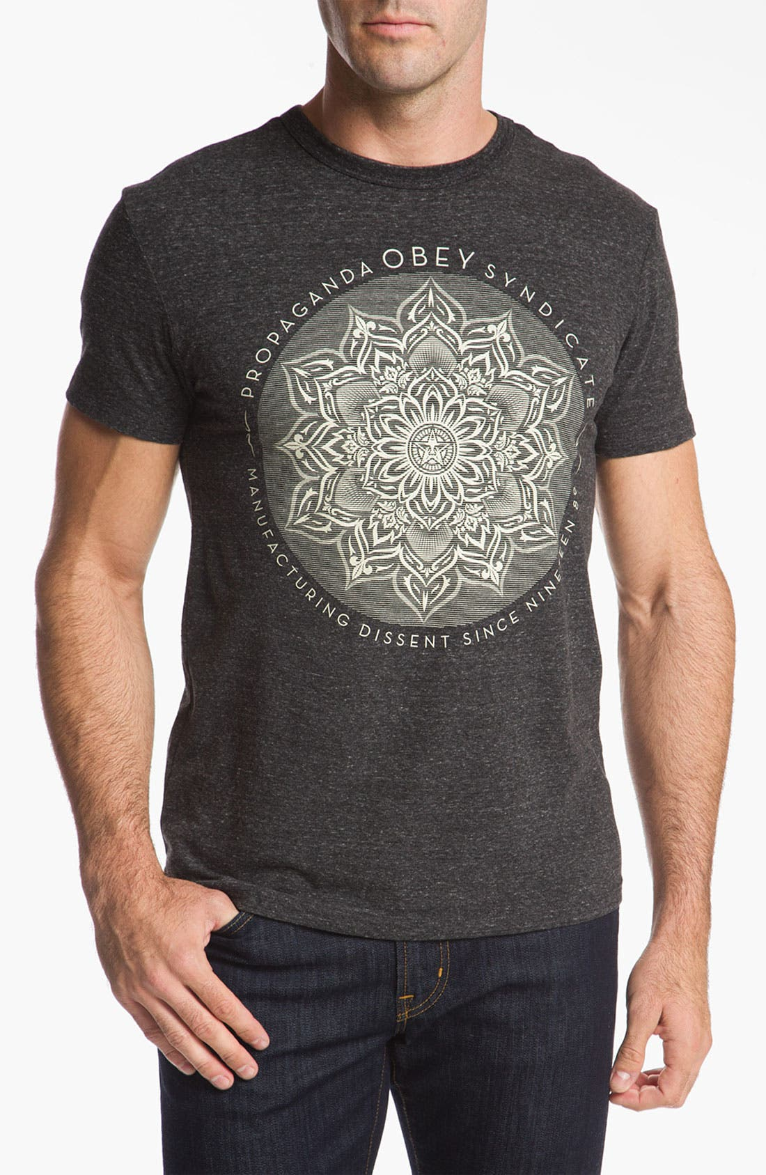 Alternate Image 1 Selected - Obey 'Lotus Syndicate' Graphic T-Shirt