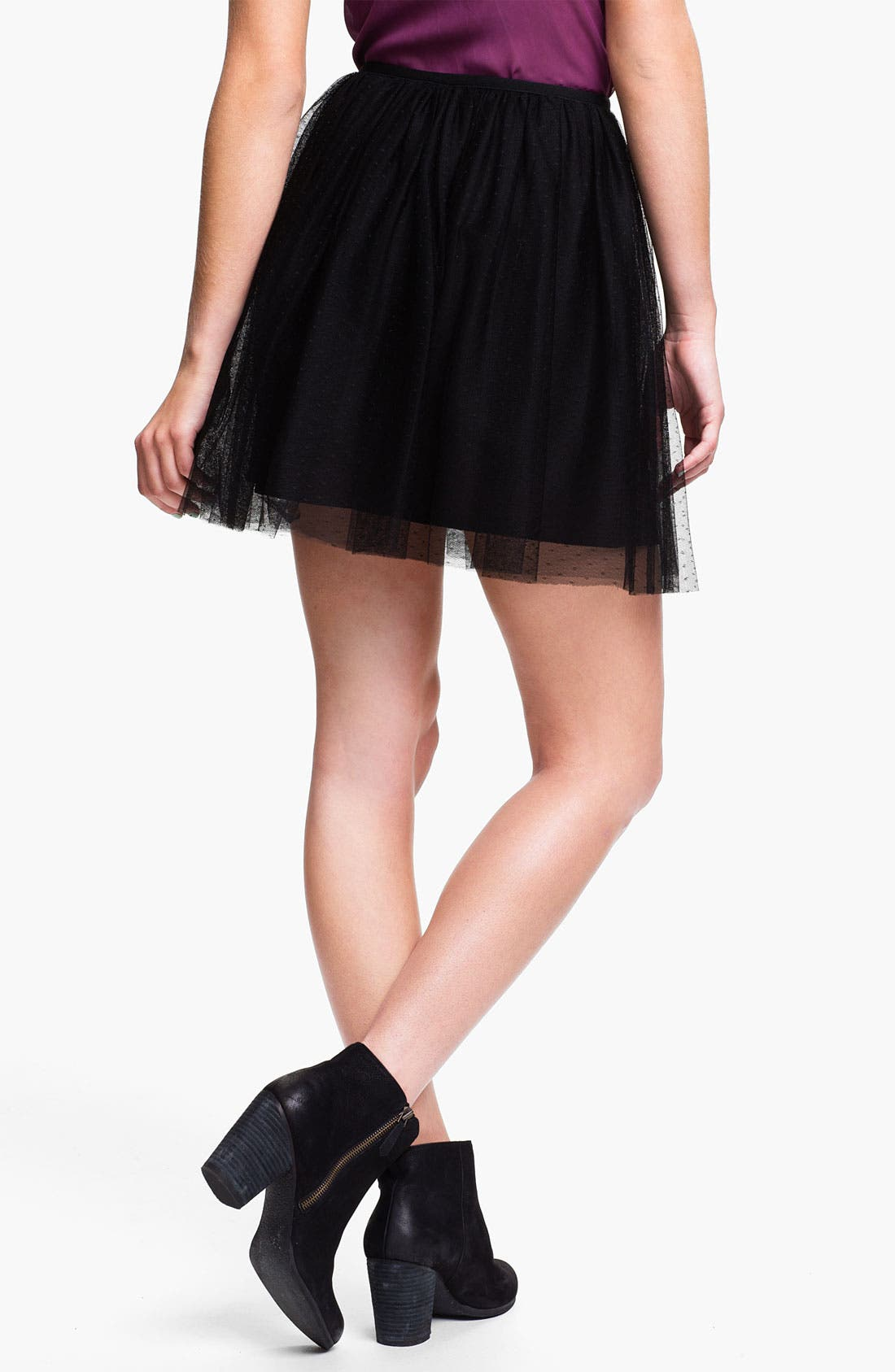 Alternate Image 2  - Frenchi® Tulle Skirt (Juniors)