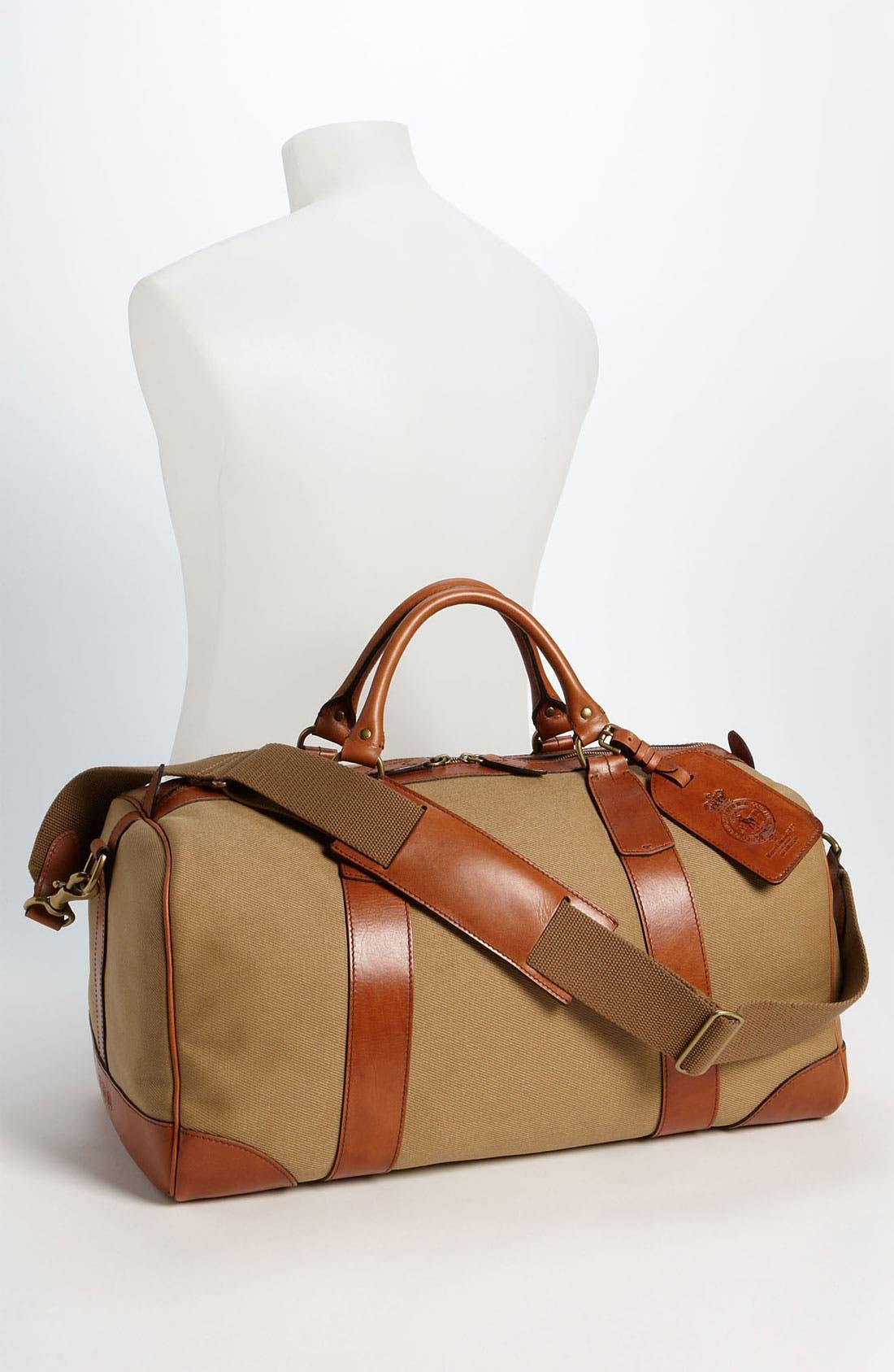 Alternate Image 4  - Polo Ralph Lauren Canvas Gym Bag