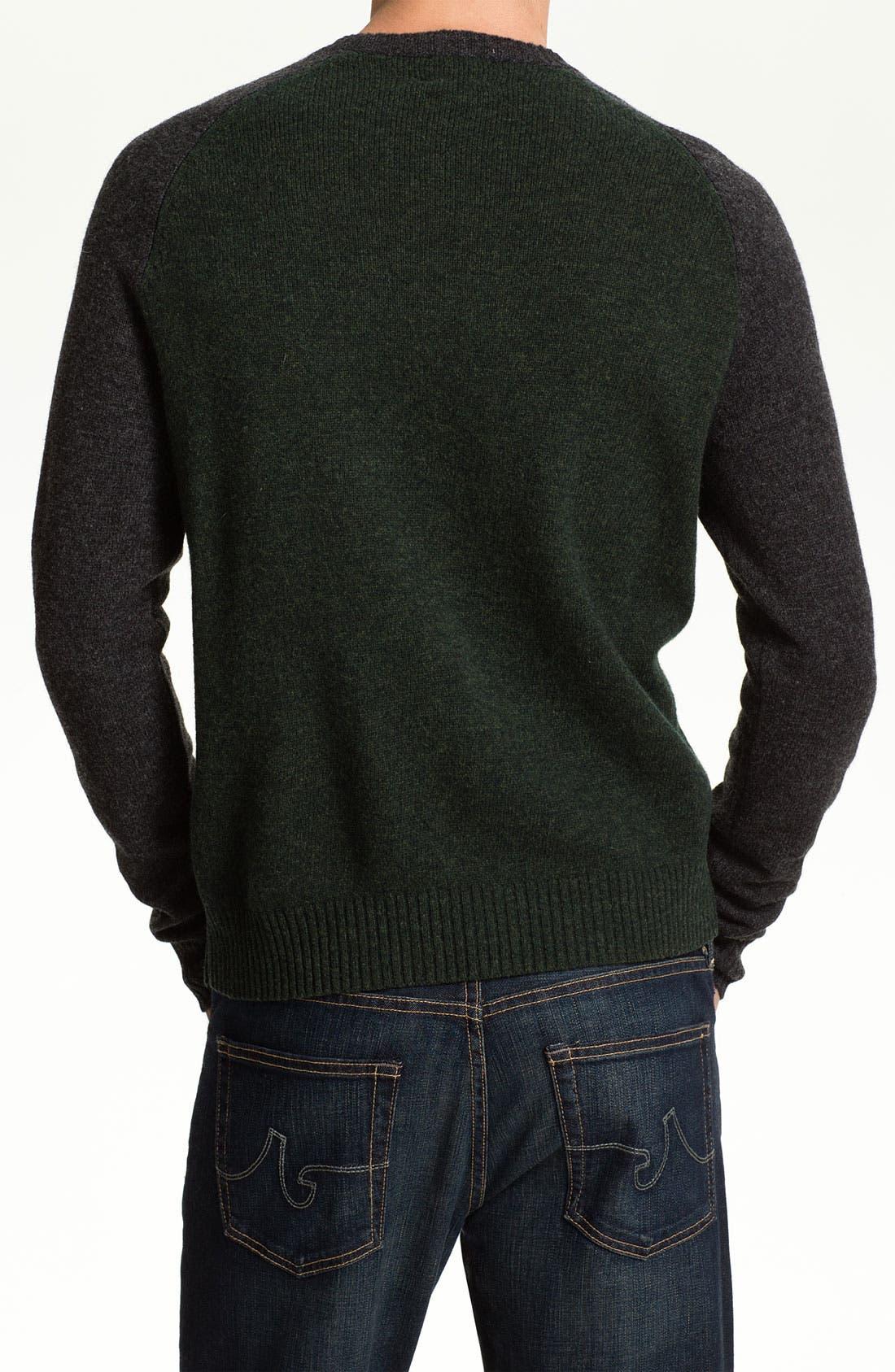 Alternate Image 2  - Brooks Brothers Wool Baseball Sweater