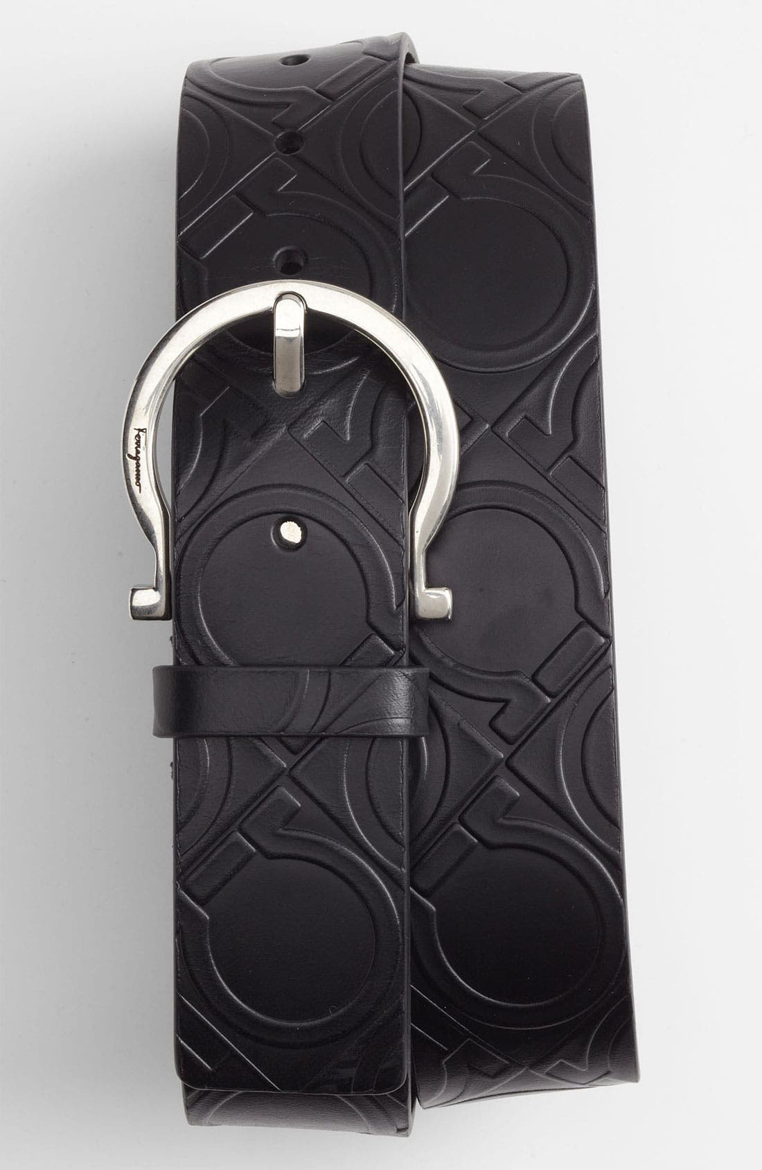 Main Image - Salvatore Ferragamo Gancini Leather Belt