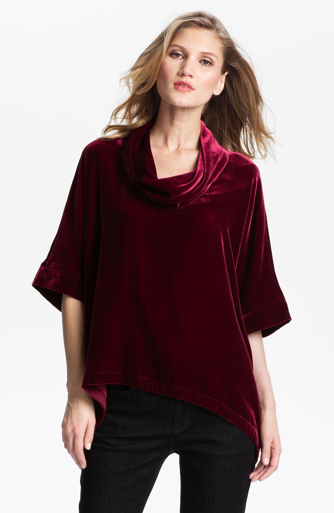 Alternate Image 1 Selected - Eileen Fisher Washable Velvet Top