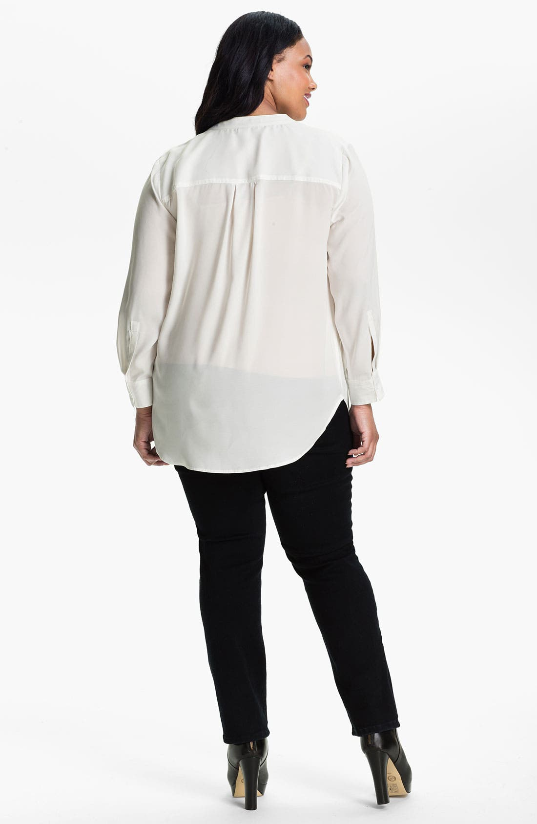 Alternate Image 2  - Sandra Ingrish Pullover Tunic (Plus)
