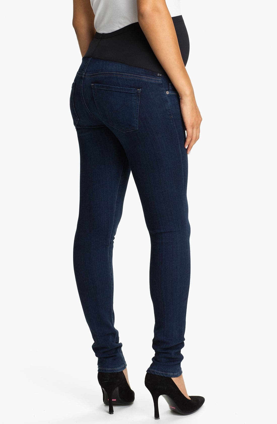 Alternate Image 2  - Citizens of Humanity Skinny Maternity Jeans (Royal)