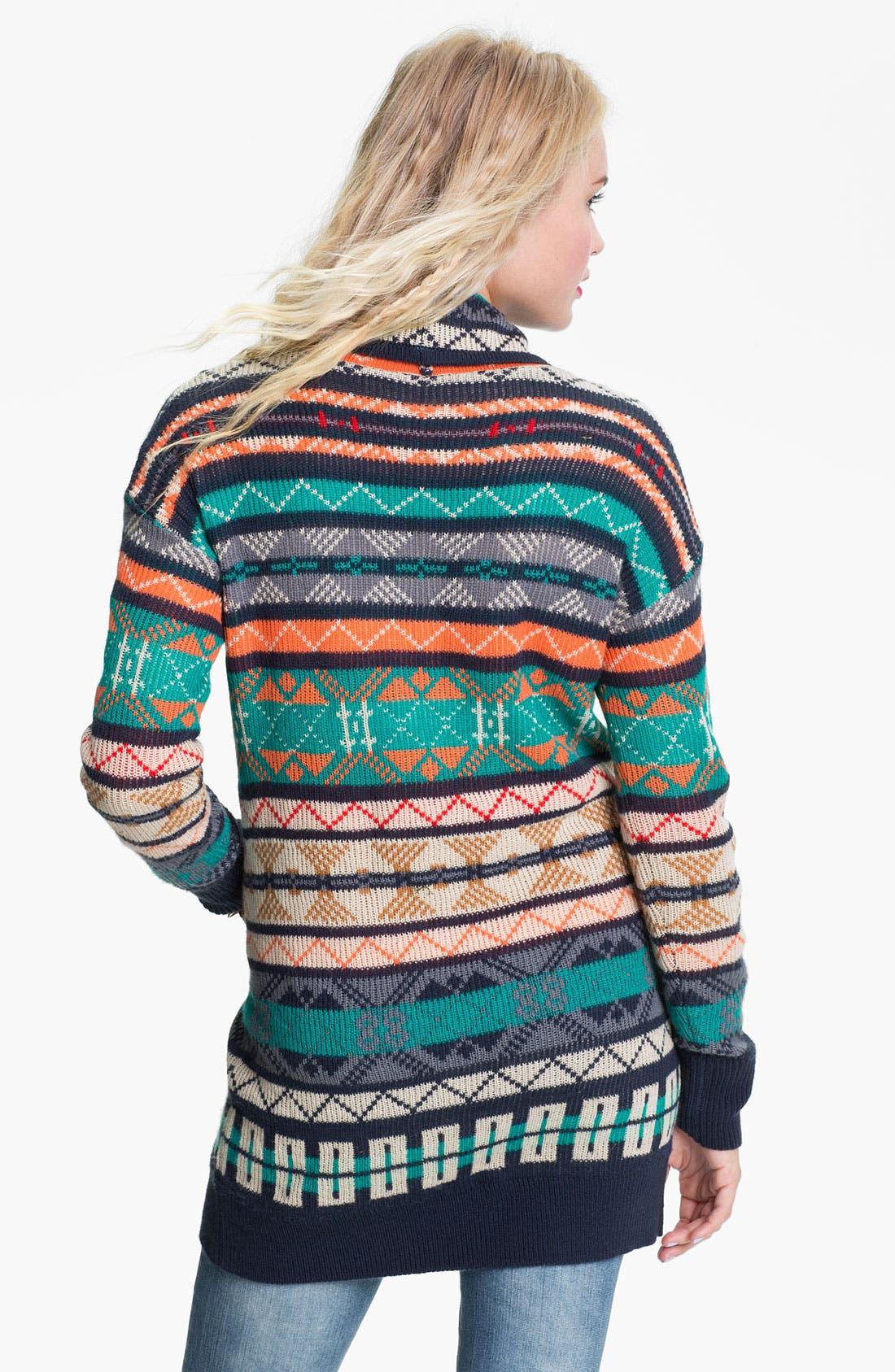 Alternate Image 2  - Rubbish® Nordic Knit Cardigan (Juniors)