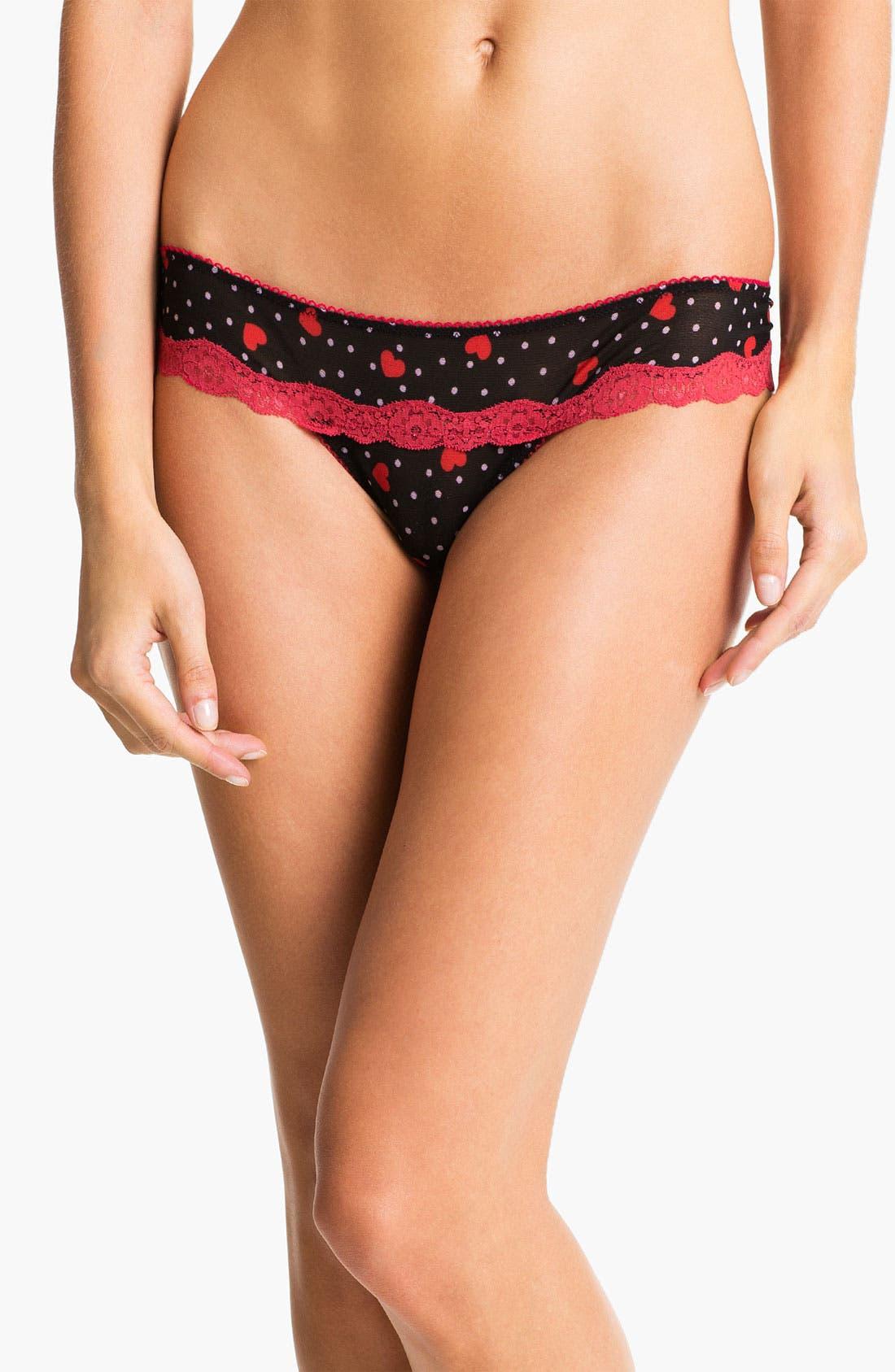 Alternate Image 1 Selected - Honeydew Intimates Back Lace Thong