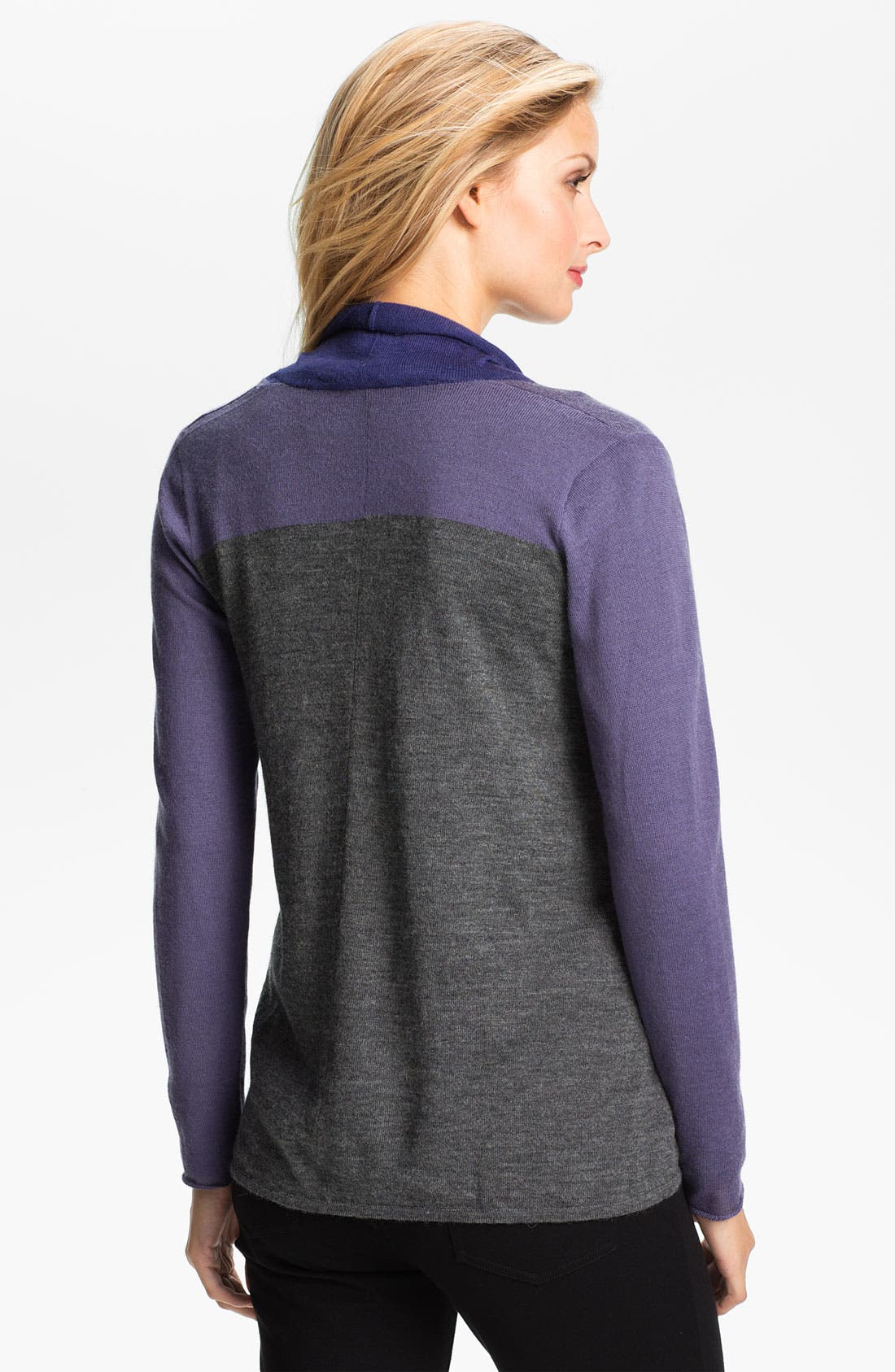 Alternate Image 2  - Eileen Fisher Colorblock Alpaca Cardigan (Petite)