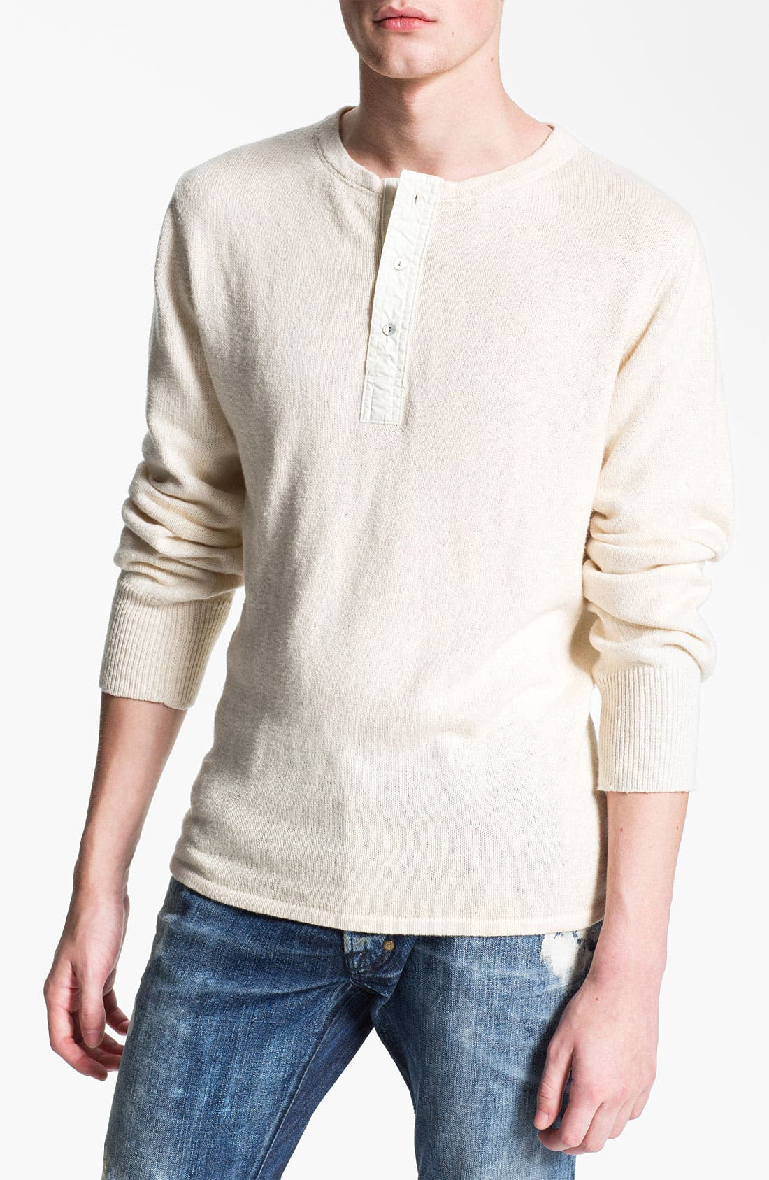 Alternate Image 1 Selected - Gant Rugger Slub Knit Henley