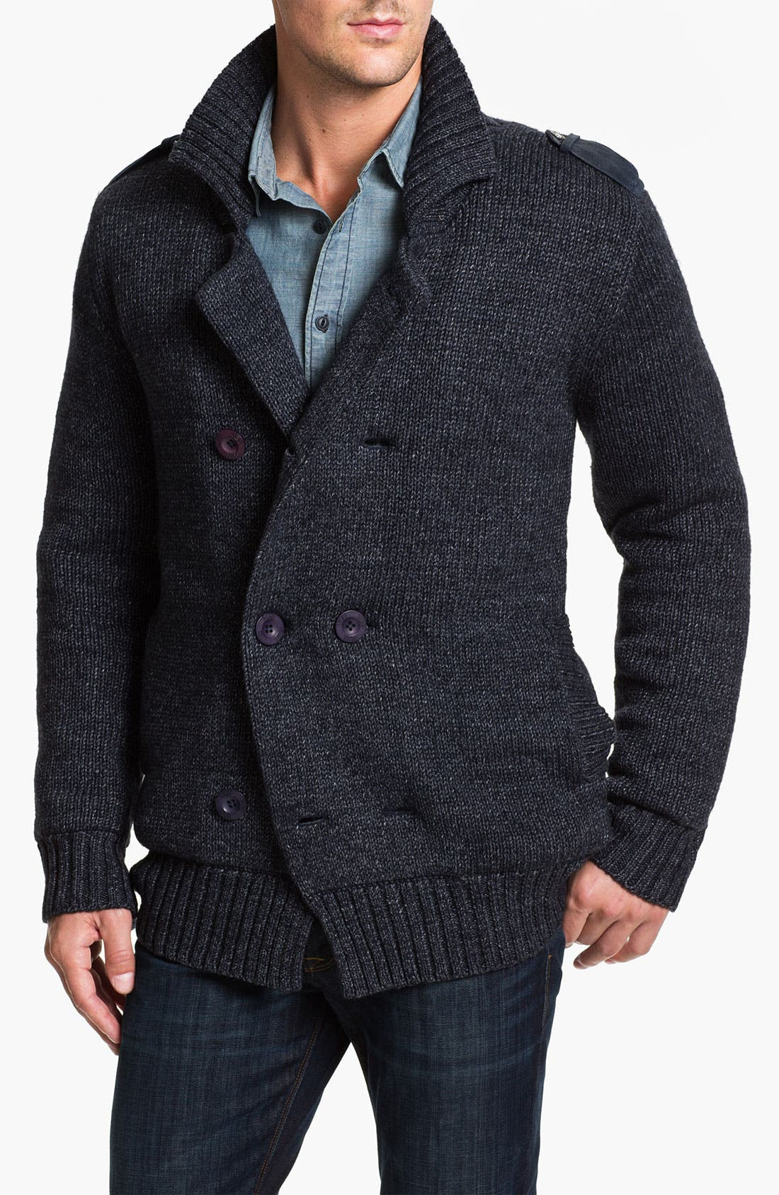 Alternate Image 1 Selected - UGG® Australia 'Jones' Double Breasted Knit Cardigan