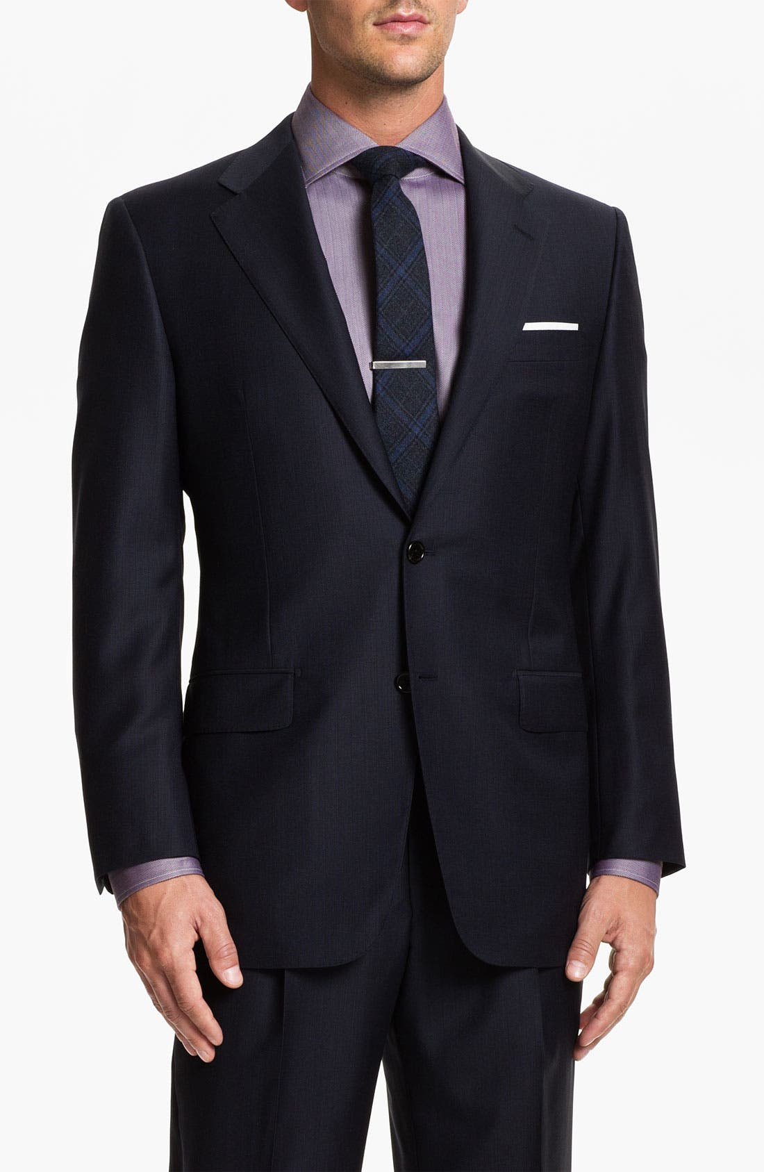 Alternate Image 1 Selected - Hickey Freeman 'A Series' Worsted Wool Suit