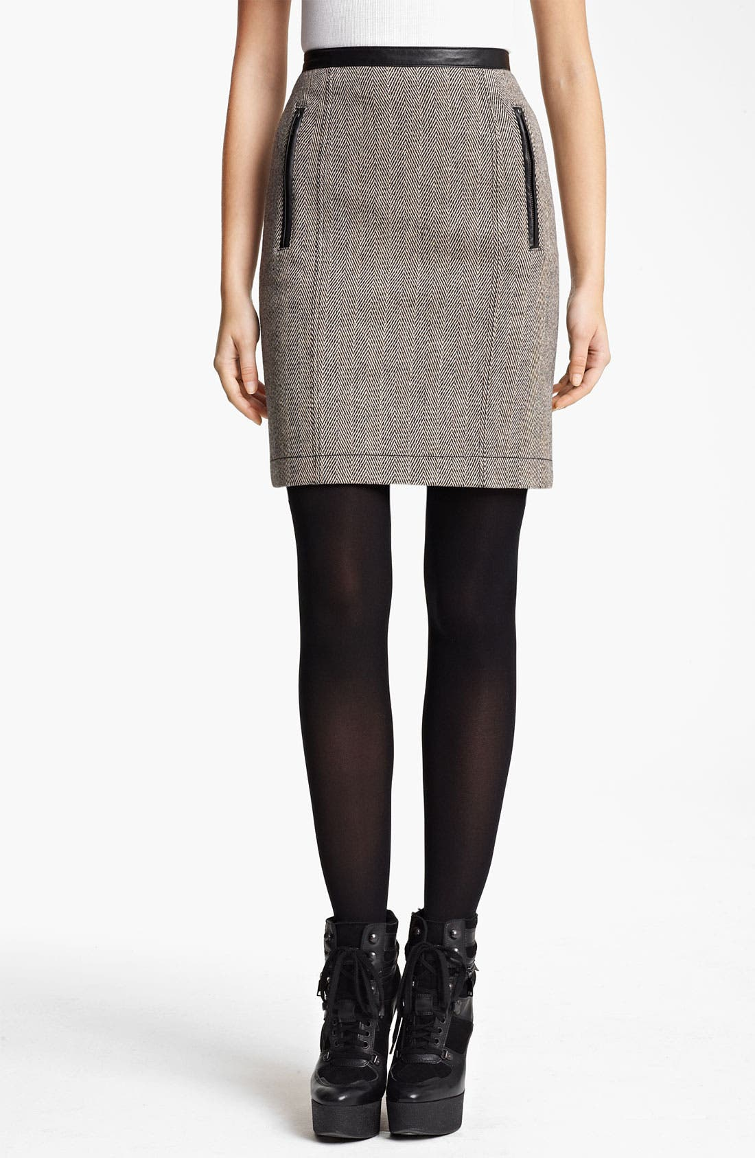 Main Image - Burberry Brit Wool Blend Skirt