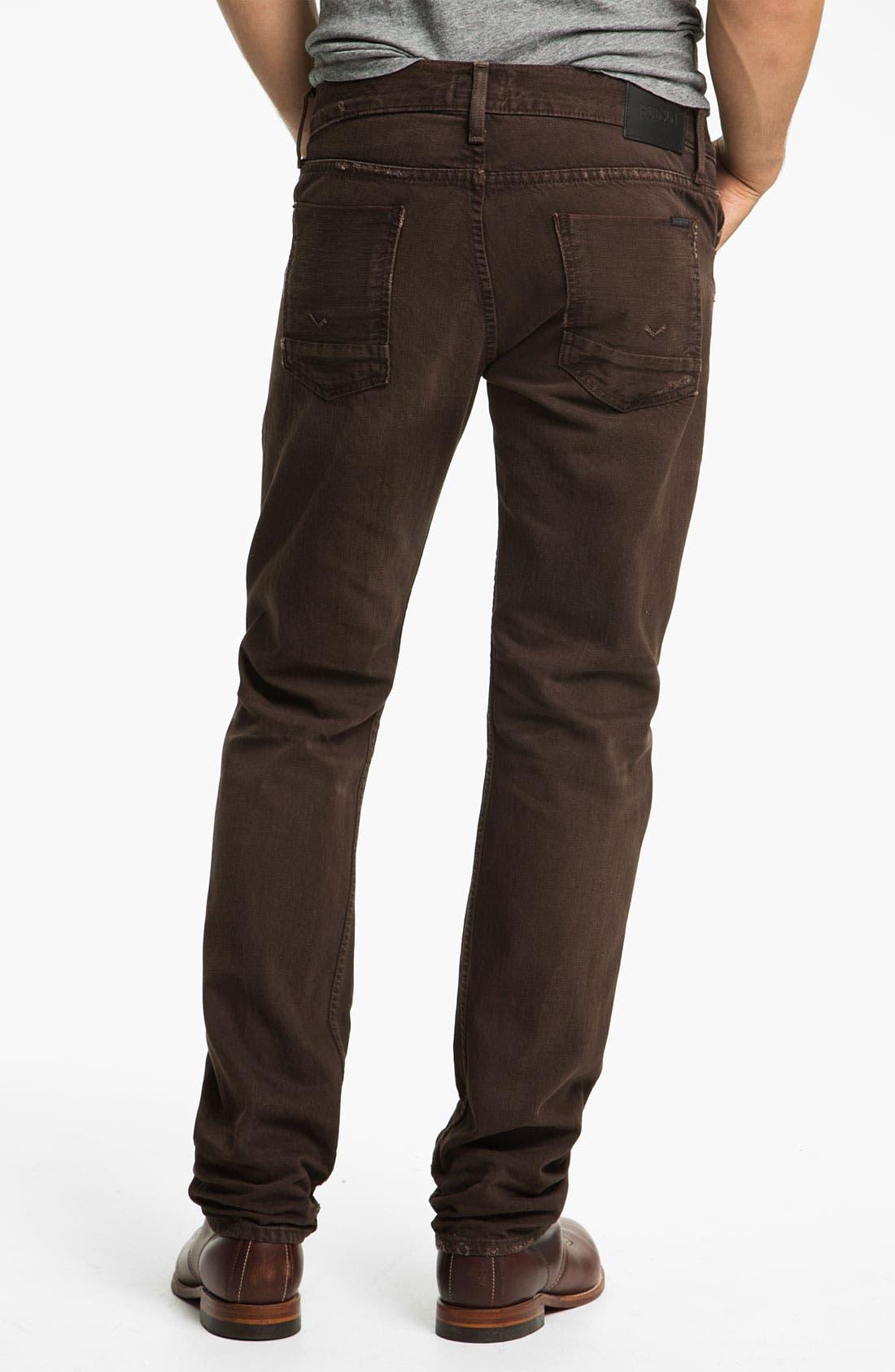 Alternate Image 1 Selected - Hudson Jeans 'Byron' Selvedge Jeans (Russet)