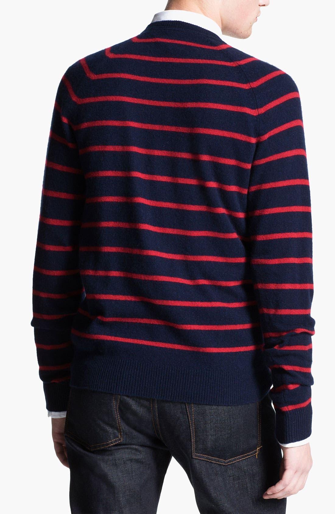Alternate Image 2  - 1901 Stripe Cashmere Sweater