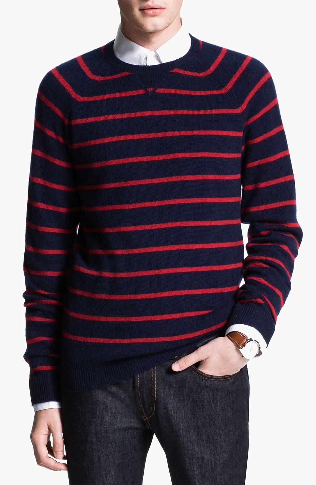 Main Image - 1901 Stripe Cashmere Sweater