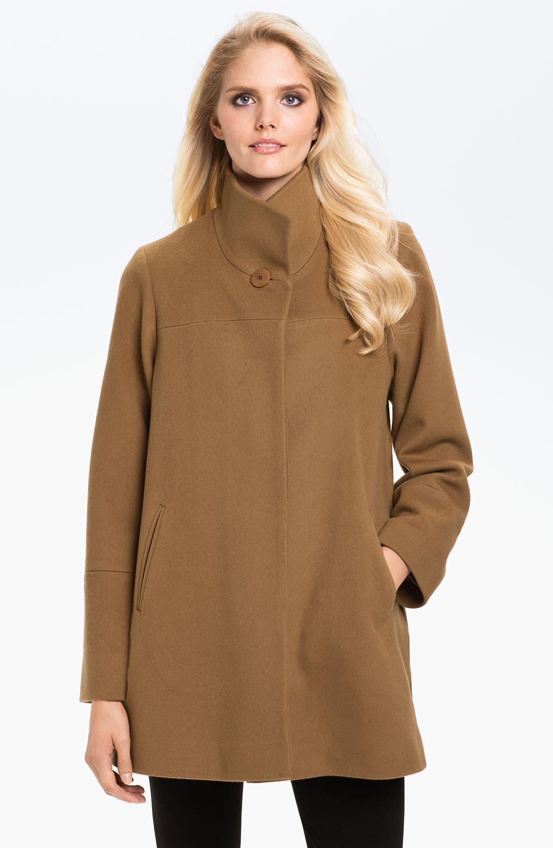 Alternate Image 1 Selected - Fleurette Stand Collar Coat