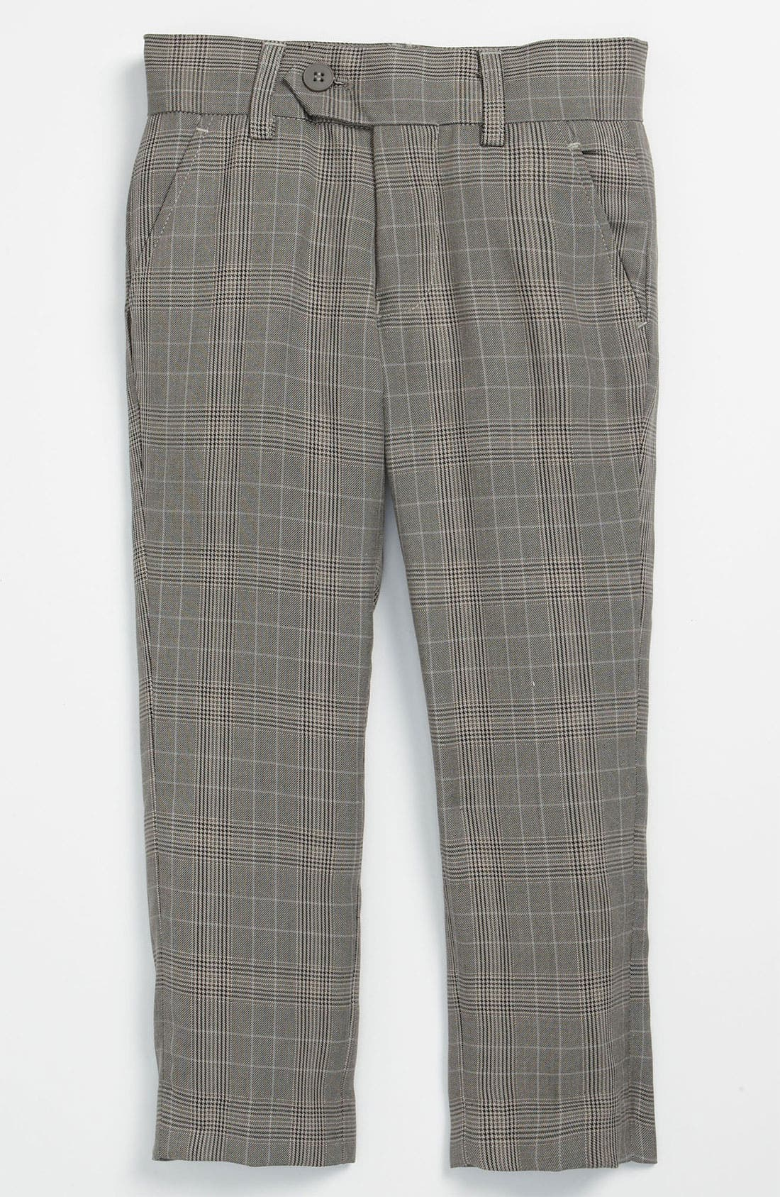 Main Image - Appaman Flat Front Plaid Trousers (Toddler)