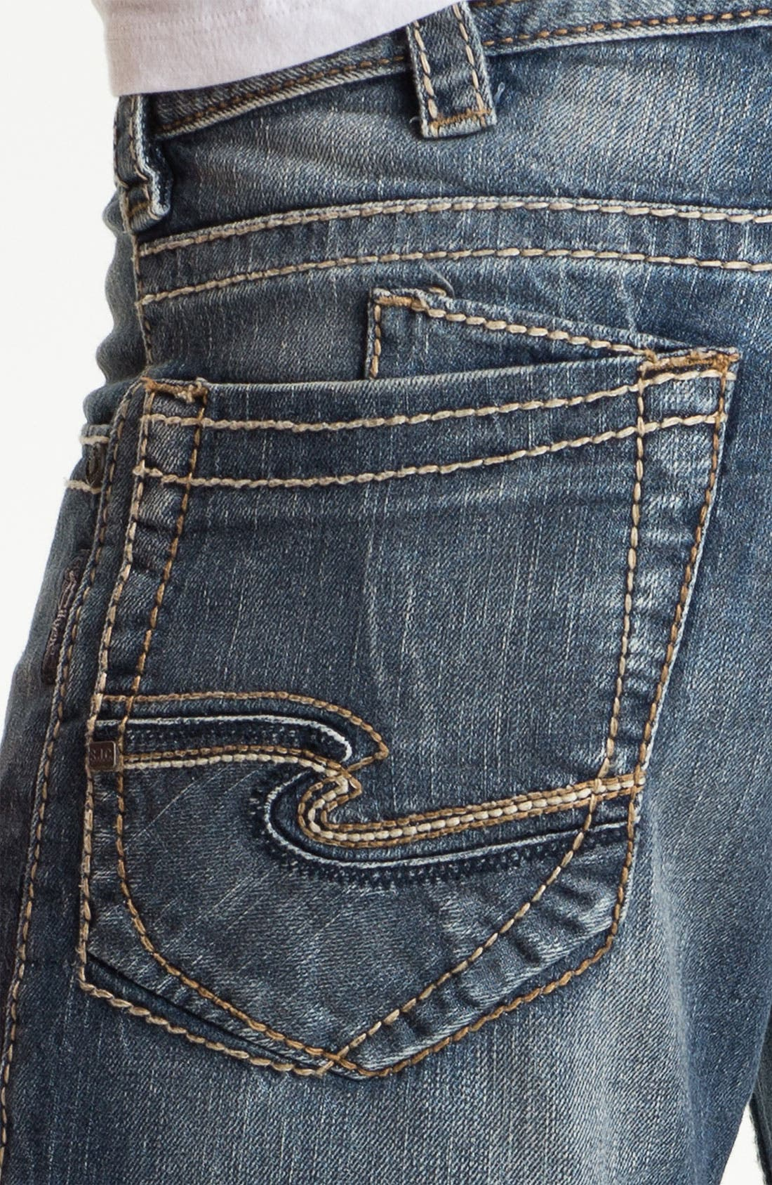 Alternate Image 4  - Silver Jeans Co. 'Zac' Straight Leg Jeans (Indigo)