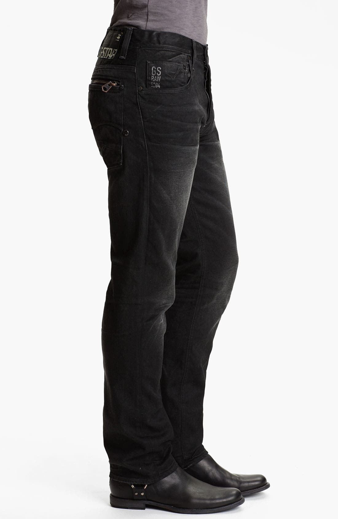 Alternate Image 3  - G-Star Raw 'Attacc' Straight Leg Jeans (Dark Aged)