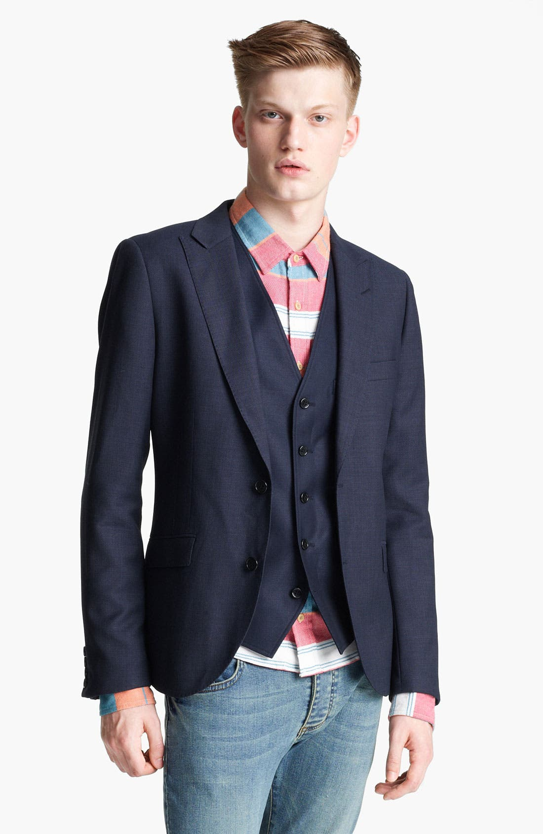 Main Image - Topman 'Chester' Skinny Blazer