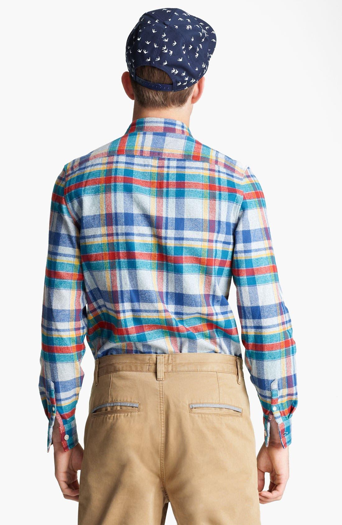 Alternate Image 2  - Topman Plaid Cotton Flannel Shirt