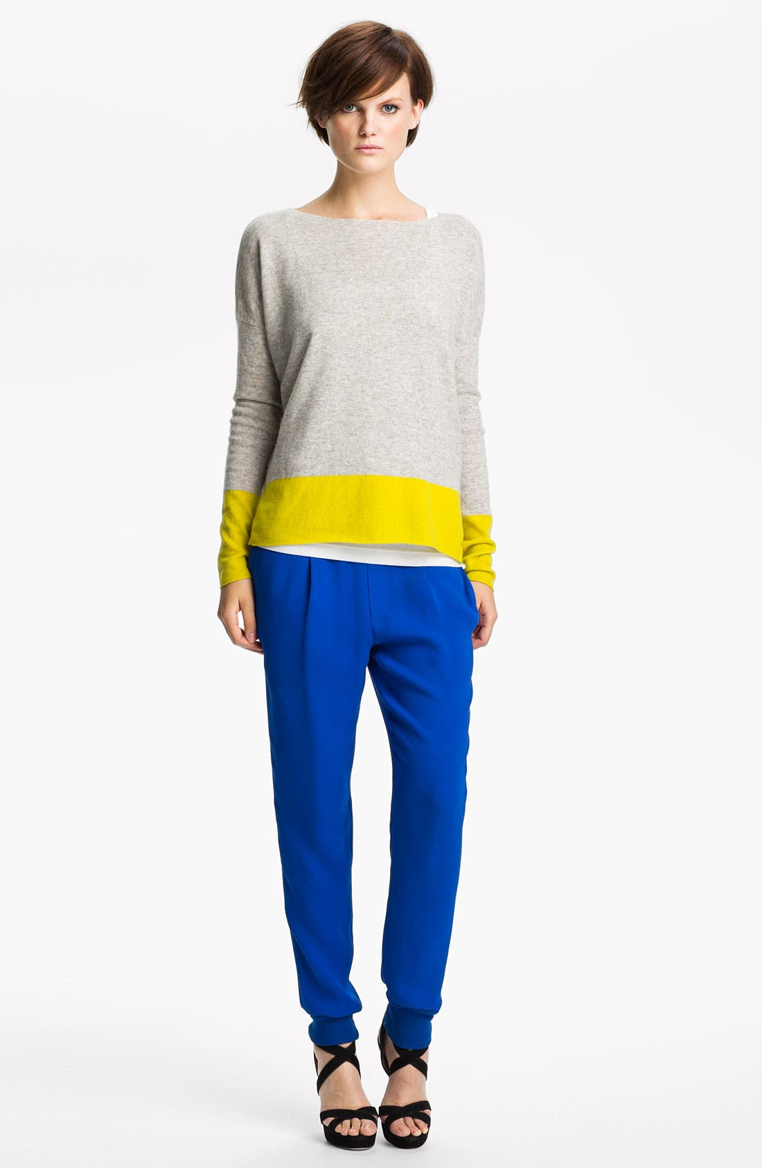 Alternate Image 1 Selected - Vince Colorblock Cashmere Sweater