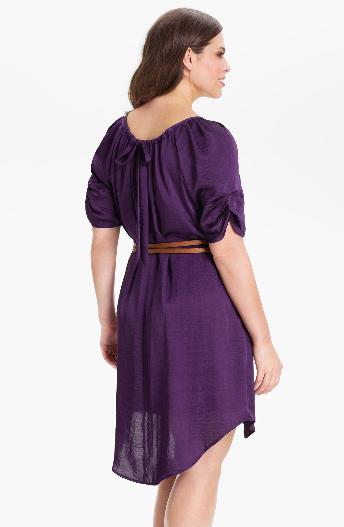 Alternate Image 2  - Jessica Simpson Belted Scoop Neck Dress (Plus)