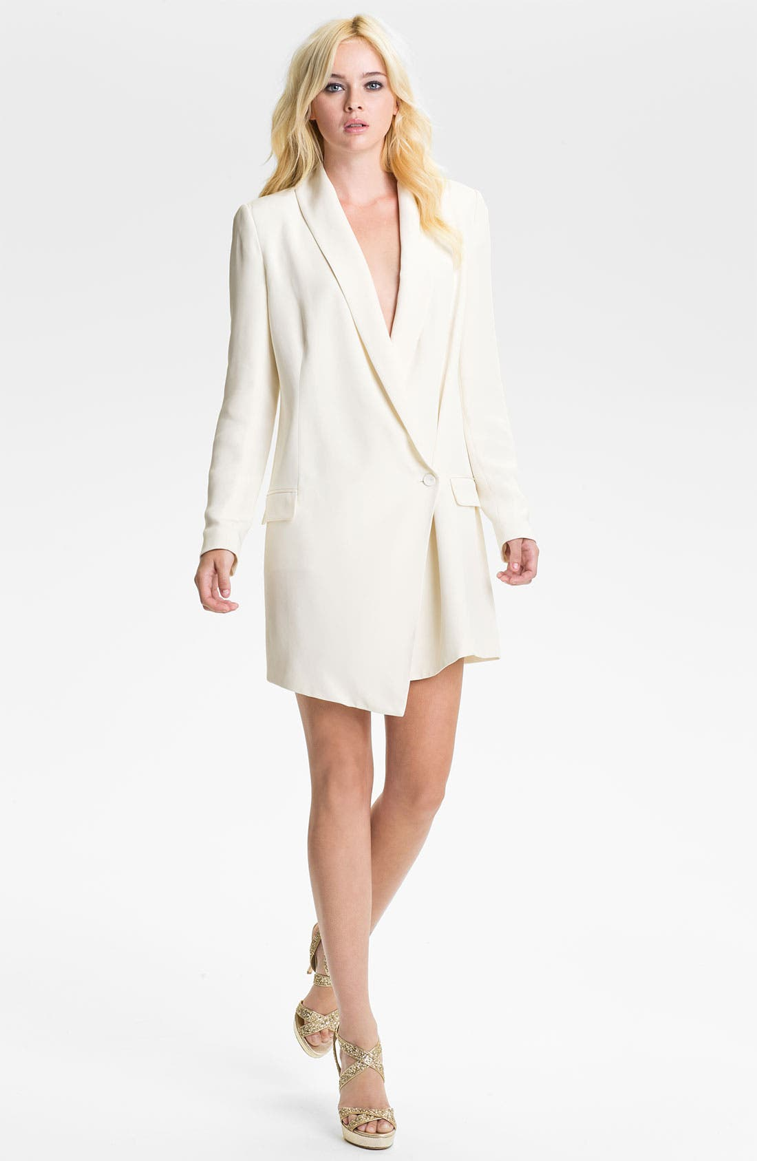 Alternate Image 1 Selected - Haute Hippie One-Button Silk Blazer Dress
