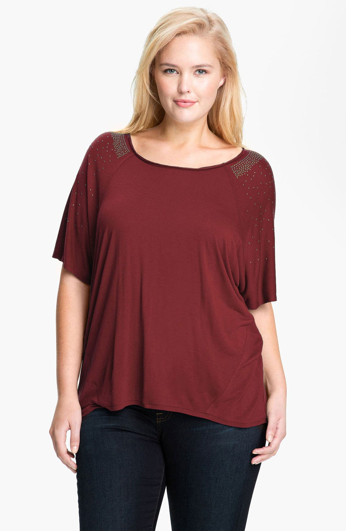 Alternate Image 1 Selected - Kische Studded Knit Top (Plus)