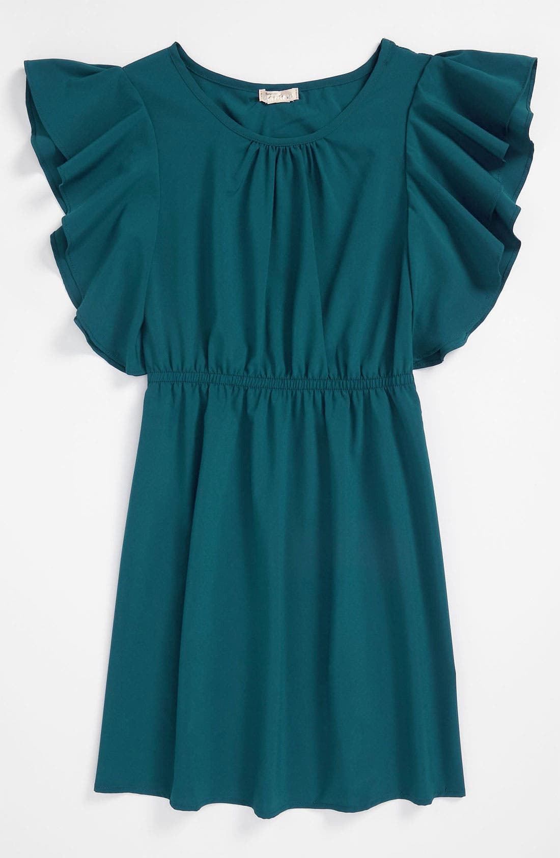 Main Image - Sally Miller Flutter Sleeve Dress (Big Girls)