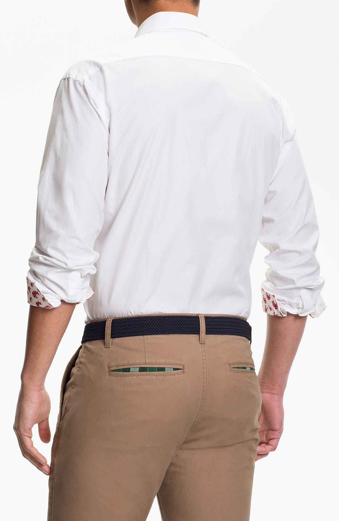 Alternate Image 2  - Thomas Dean 'Washington State University' Traditional Fit Sport Shirt